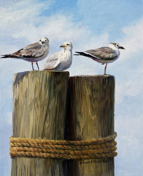 South Beach Painting - Lookout by Laurie Snow Hein
