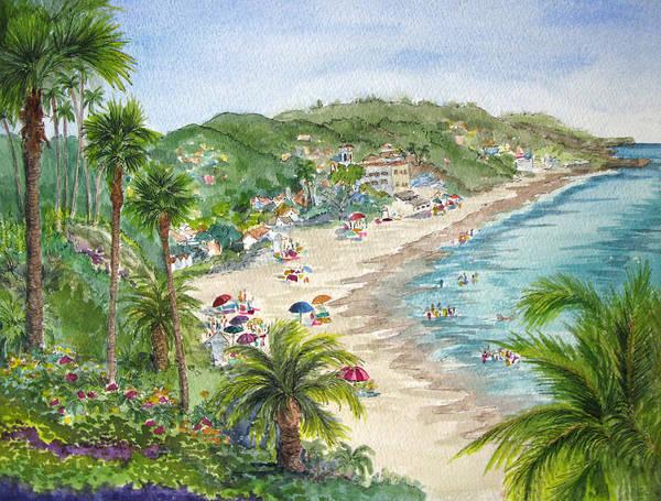 Laguna Beach Painting - Lookout Over Laguna Beach by Bonnie Sue Schwartz