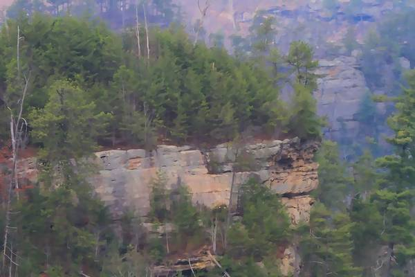 Photograph - Lookout Point Natural Bridge Kentucky by Dan Sproul