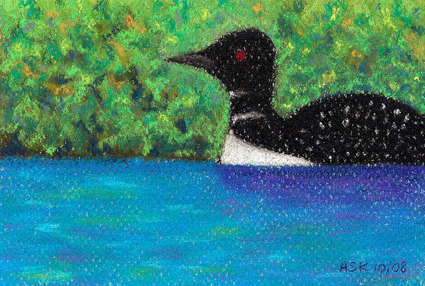 Pastel - Loon by Anne Katzeff