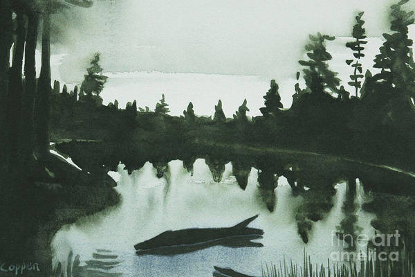 Adirondack Mountains Painting - Loon Cry by Robert Coppen