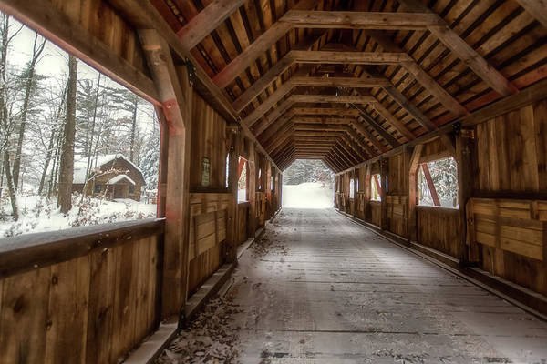 Wall Art - Photograph - Loon Song Covered Bridge 1 by Heather Kenward
