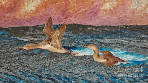 Loon Painting - Loons by Celestial Images