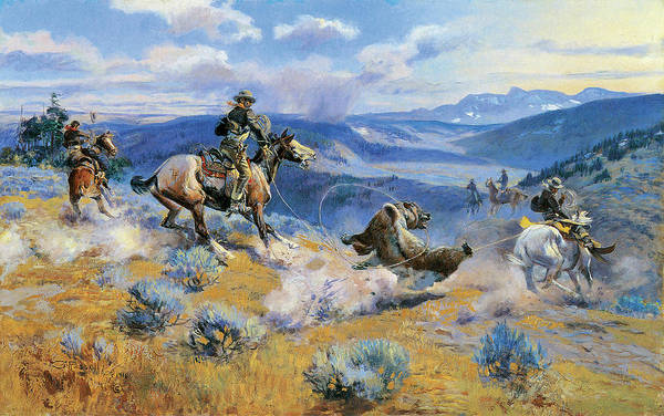 Prairie Digital Art - Loops And Swift Horses Are Surer Than Lead by Charles Russell