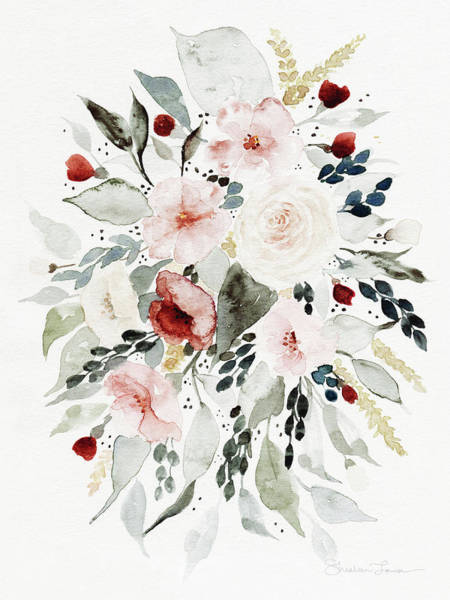 Wild Flowers Wall Art - Painting - Loose Florals by Shealeen Louise