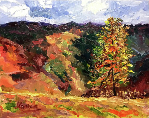Painting - Loose Landscape by Janet Garcia