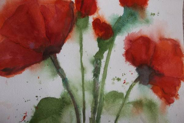 Painting - Loose Poppies by Audrey Bunchkowski