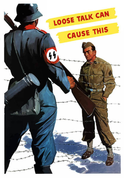 Germany Painting - Loose Talk Can Cause -- Ww2 Propaganda by War Is Hell Store