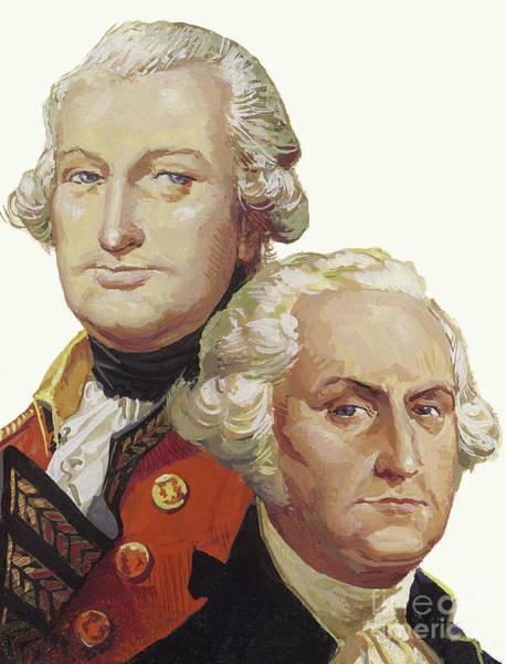 Historical Figure Painting - Lord Cornwallis And George Washington by Severino Baraldi