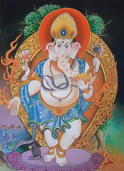 Dominate Painting - Lord Ganesh by Bishan Singh Rana