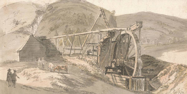 Painting - Lord Hopetoun's Lead Mines by Paul Sandby