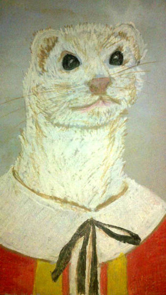 Ferrets Drawing - Lord Kevin by Jera Winters