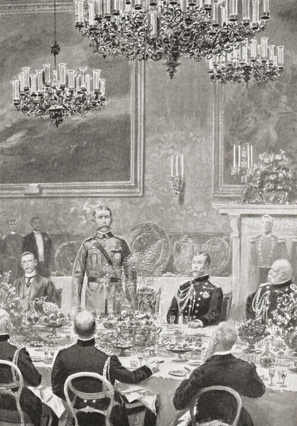 Wall Art - Drawing - Lord Kitchener Replying To The Toast by Vintage Design Pics