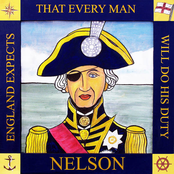 Helm Painting - Lord Nelson by Paul Helm
