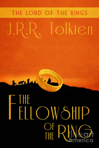 Frodo Digital Art - Lord Of The Rings Fellowship Of The Ring Book Cover Movie Poster by Nishanth Gopinathan