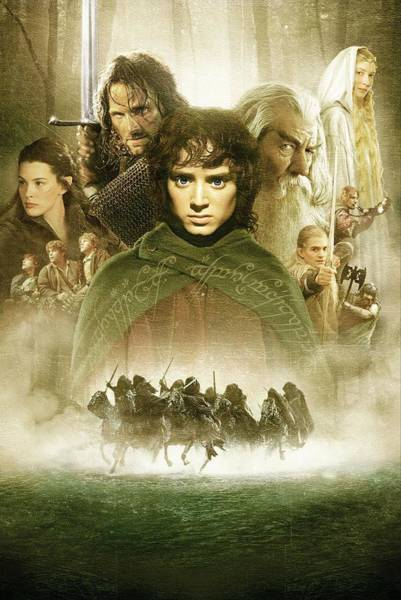 Ring Digital Art - Lord Of The Rings The Fellowship Of The Ring 2001  by Geek N Rock