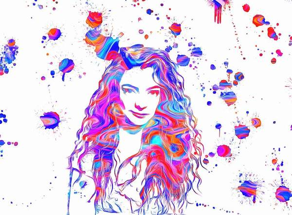 Wall Art - Painting - Lorde Colorful Paint Splatter by Dan Sproul