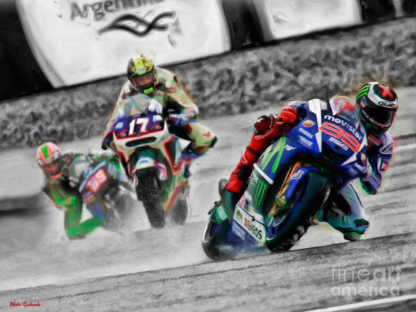 Photograph - Lorenzo Leads Abraham And Hayden  by Blake Richards