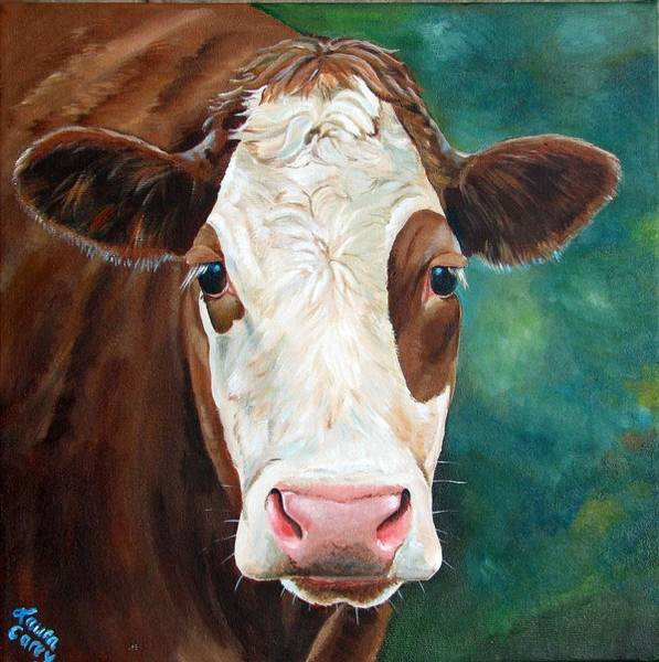 Hereford Bull Painting - Loretta by Laura Carey