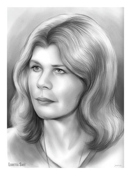 Actress Drawing - Loretta Swit by Greg Joens