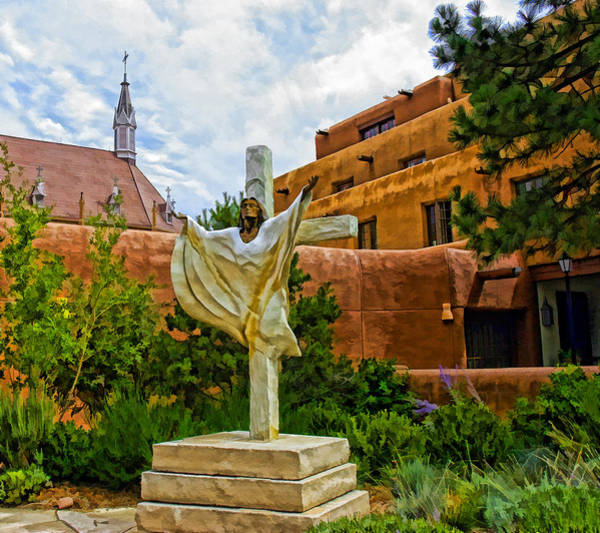 Photograph - Loretto Steeple And Christ On A Cross by Ginger Wakem