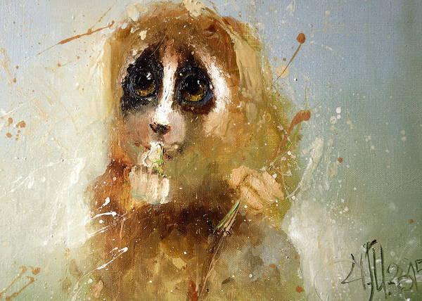 Painting - Lori Eyes by Igor Medvedev