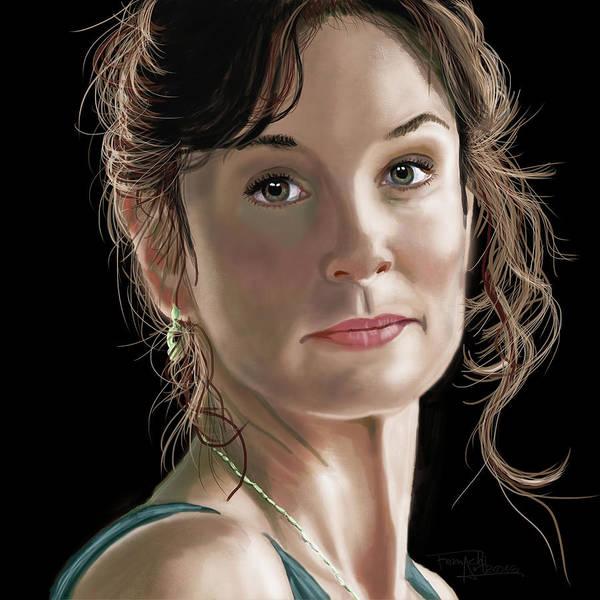 Grime Digital Art - Lori Grimes - The Walking Dead Digital Drawing by Femchi Art