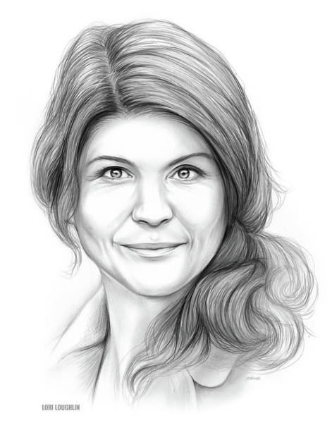 Actress Drawing - Lori Loughlin by Greg Joens
