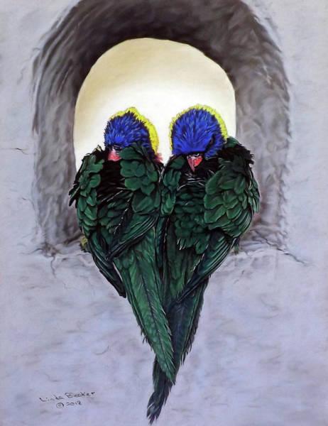 Pastel - Lorikeets by Linda Becker