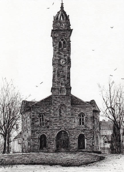 Structure Drawing - Lorne And Lowland Parish Church by Vincent Alexander Booth