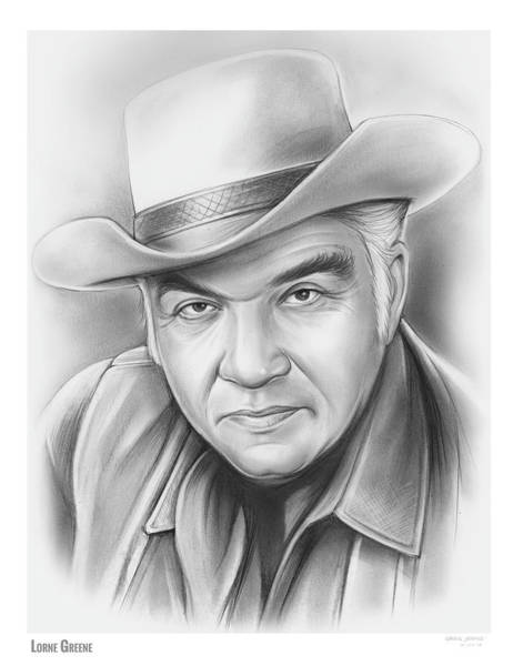 Television Drawing - Lorne Greene by Greg Joens