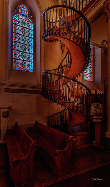 Photograph - Lorreto Chapel -spiral Staircase by Tim Bryan