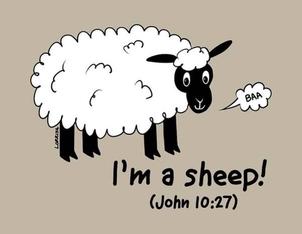 Digital Art - I'm A Sheep by Lorrisa Dussault