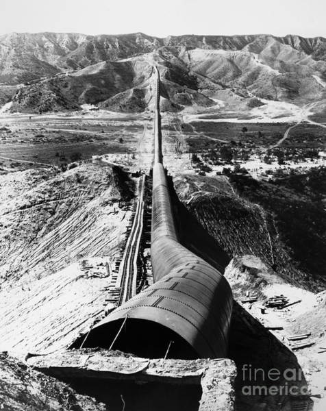 Photograph - Los Angeles Aqueduct by Granger
