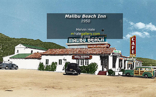 Wall Art - Painting - Los Angeles Art Entitled Malibu Beach Inn Circa 1950 by Melvin Hale