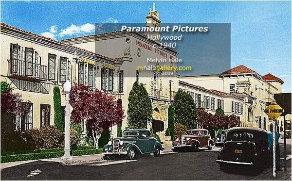 Wall Art - Painting - Los Angeles Art Entitled  Paramount Pictures Circa 1940 by Melvin Hale