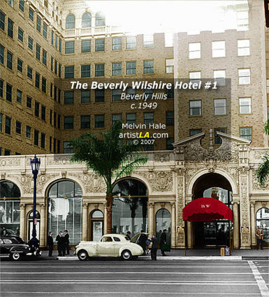 Wall Art - Painting - Los Angeles Art Entitled The Beverly Wilshire I Circa 1949 by Melvin Hale
