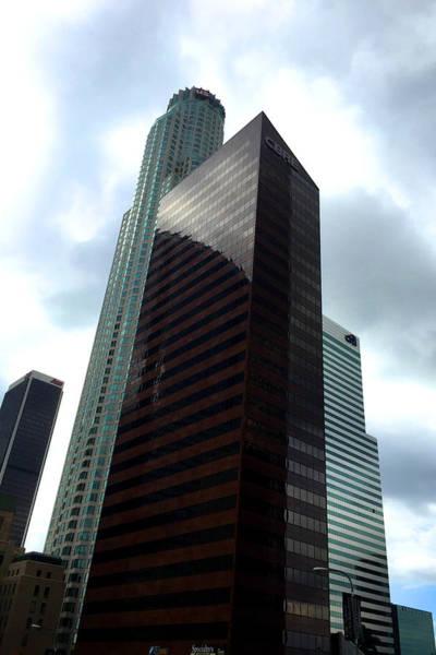 Us West Coast Photograph - Los Angeles Bank Buildings by Nancy Merkle
