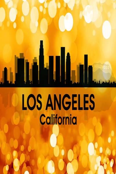 Digital Art - Los Angeles Ca 3 Vertical by Angelina Tamez
