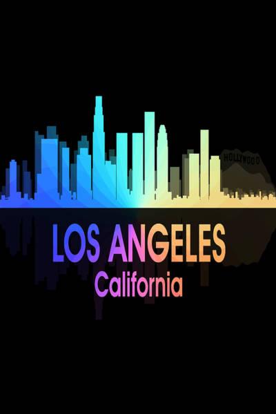 Digital Art - Los Angeles Ca 5 Vertical by Angelina Tamez