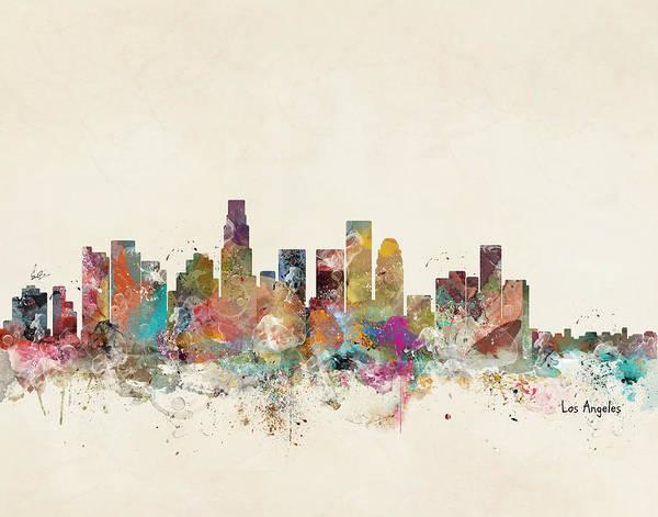 California Digital Art - Los Angeles California by Bri Buckley