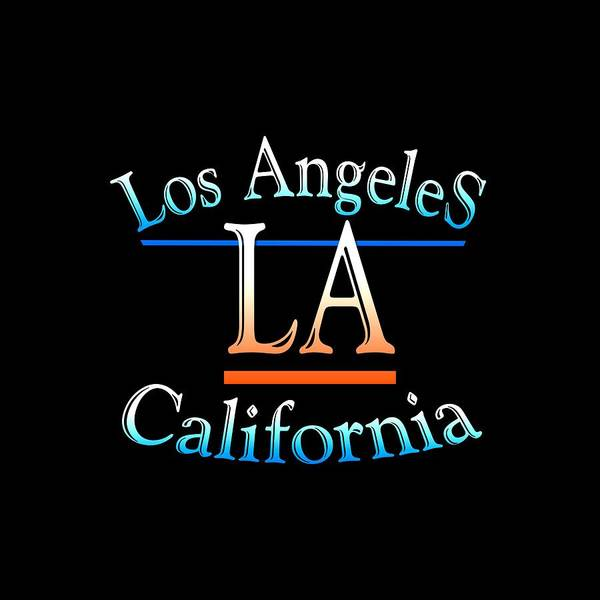 Clothing Design Mixed Media - Los Angeles California Design by Peter Potter