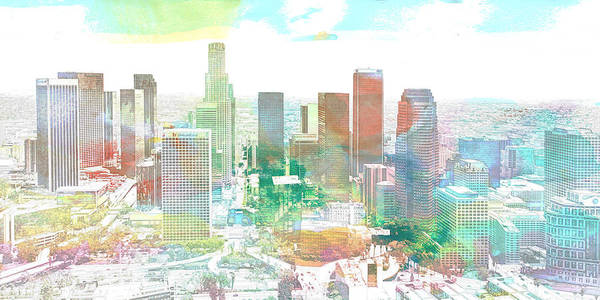 Digital Art - Los Angeles, California, United States by Anthony Murphy