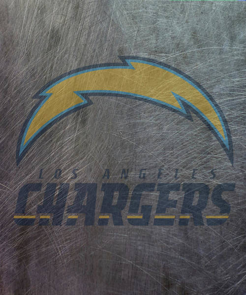 Mixed Media - Los Angeles Chargers Translucent Steel by Movie Poster Prints