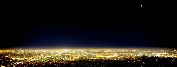 Los Angeles Skyline Photograph - Los Angeles City Skyline by Mark Andrew Thomas