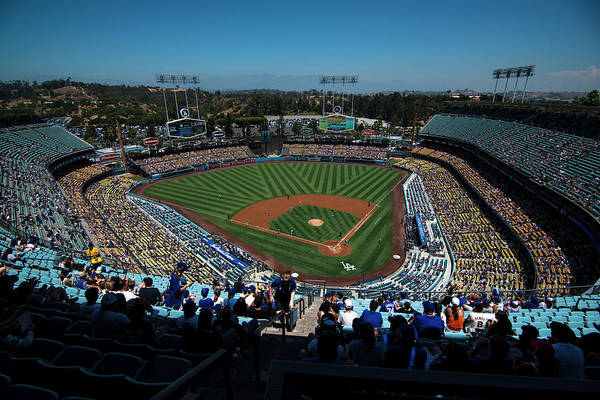 Photograph - Los Angeles Dodgers Dodgers Stadium Baseball 2043 by David Haskett II