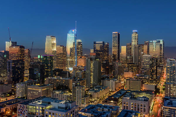 Photograph - Los Angeles Downtown Dusk by Kelley King