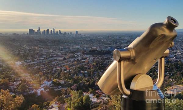 Photograph - Los Angeles Downtown From Griffith Observatory by Gregory Dyer