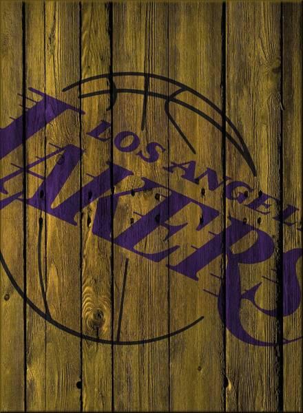 51a77e110450 Lakers Wall Art - Photograph - Los Angeles Lakers Wood Fence by Joe Hamilton