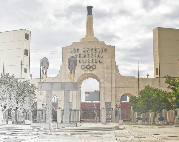 Digital Art - Los Angeles Memorial Coliseum  by Anthony Murphy